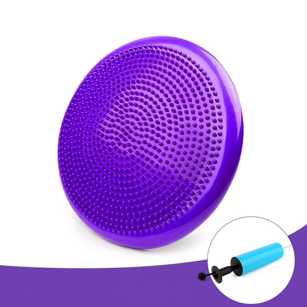 TMY Balance Pad Yoga Training Air Cushion Balance Ball Soft Step Children Balance Pad Pedal Pad (Color : Purple)