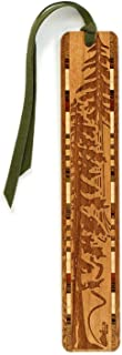 product image for Personalized Evergreen Hiker, Engraved Wooden Bookmark with Suede Tassel - Search B011PIW6CK for Non-Personalized Version