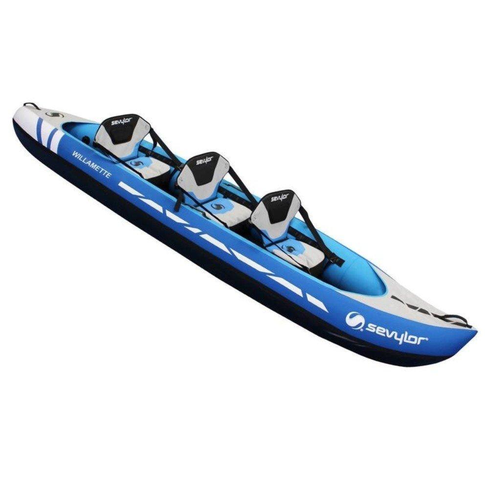 Sevylor Willamette - Canoa Hinchable de 3 plazas, Azul/Gris, Talla ...