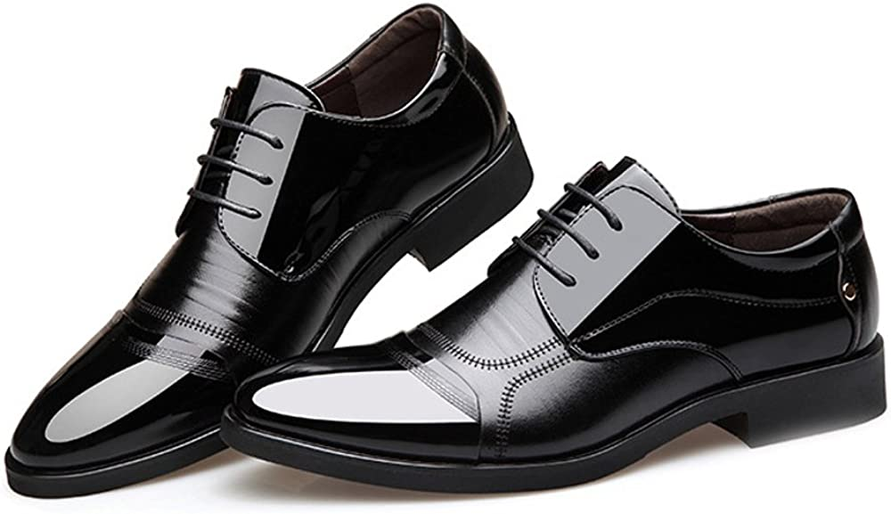 Mens Elegant Buckle Loafers Mens Courtly Business Shoes Shiny Smooth PU Leather Splice Vamp Lace Up Block Heel Lined Oxfords Fashion Moccasin Slippers