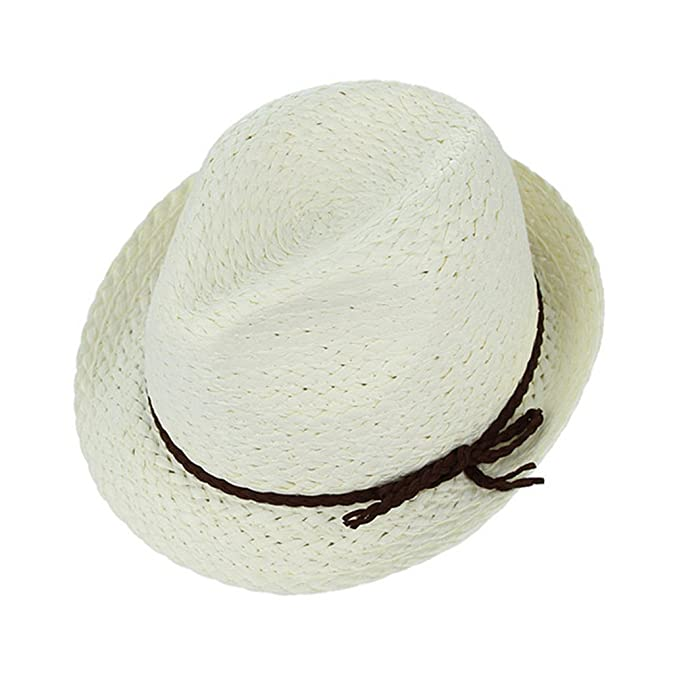 August Jim Sombreros de Paja niños Verano Playa de Punto Hueco Fuera  Transpirable Sombrero de Sol 337dda44c5d