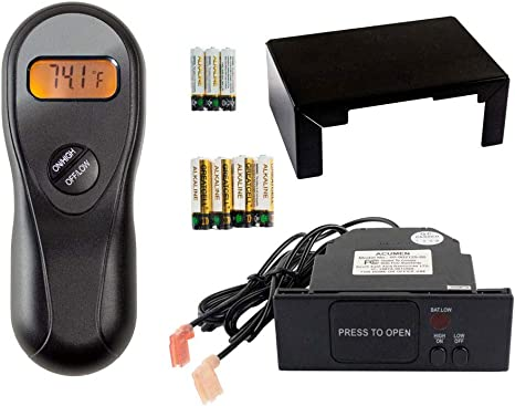 Hearth Products Controls Acumen Timer//Thermostat Fireplace Remote Control with 9-Foot Wires RCK-KW