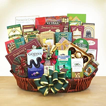 Christmas Gift Packages.Amazon Com In Good Company Gourmet Food Basket Christmas
