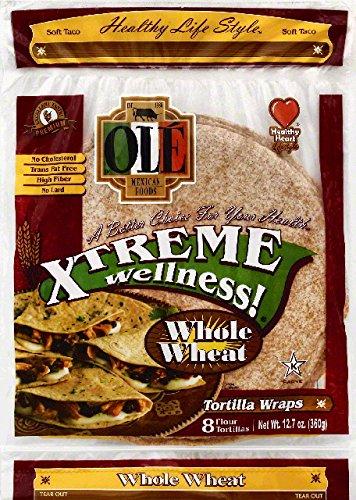 Tortillas Free Flour Fat - Ole Tortilla Wraps, Flour, Soft Taco, Whole Wheat