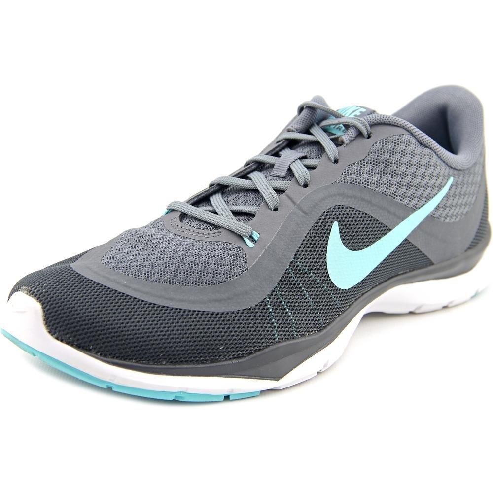 Womens Nike Flex Trainer 6 Training Shoes Cool Grey/Hyper Turquoise/Dark Grey 8