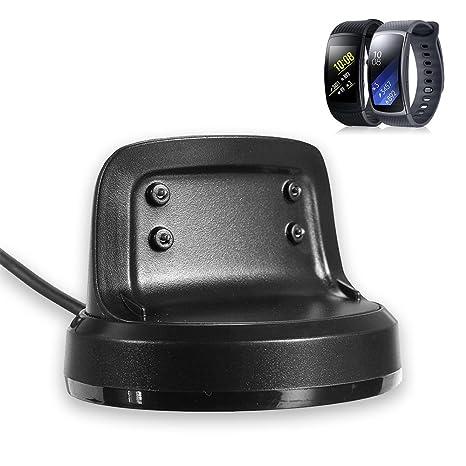 Samsung Gear Fit 2 Pro/Fit 2 Smart reloj de batería, feskio bastidor 3,3 pies de repuesto USB Cable de carga base de carga inalámbrica cuna cargador ...