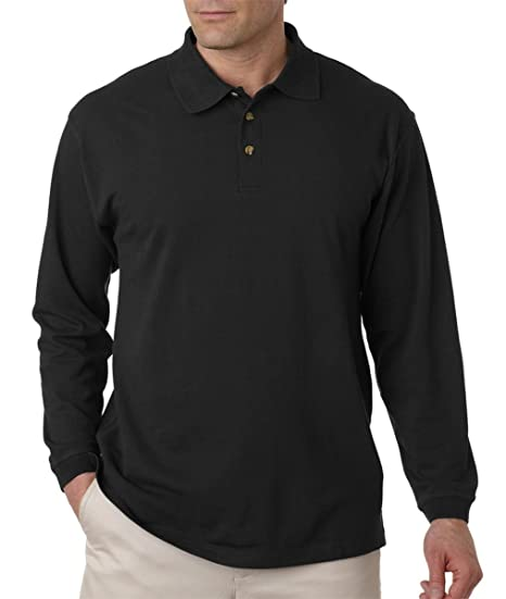 b1a11a14 UltraClub Adult Long-Sleeve Classic Pique Polo at Amazon Men's ...