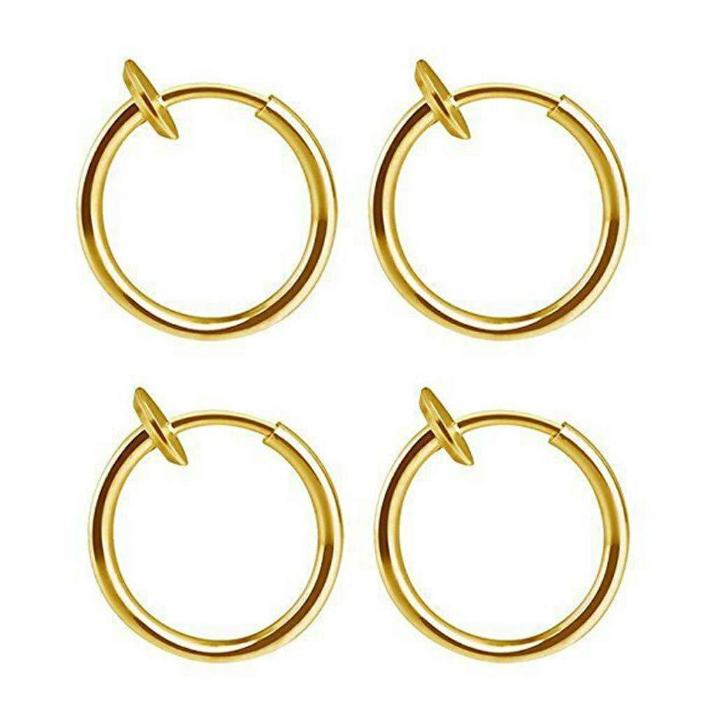 Black Simplylin Women Earrings Jewelry Earring Womens Fashion Women Earrings Stud,Retractable Earrings No Need Piercing Men Women Classic Hip-hop Hoop Earrings