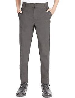 6e03bc0c007 4D Boys School Skinny/Slim Leg Trouser-Elasticated Waist+Adjustable Waist…