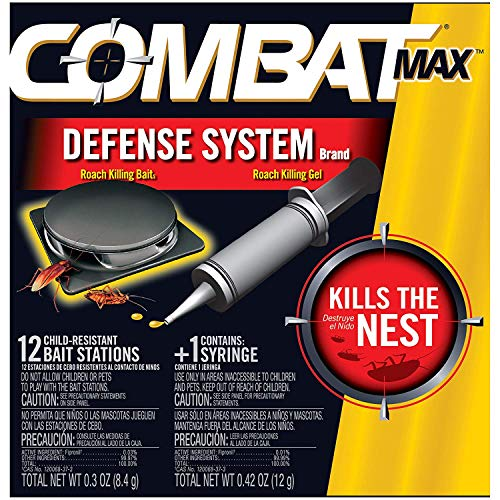 - Combat Max Defense System Brand, Small Roach Killing Bait and Gel, 12 Count (2 Pack(12 Count))