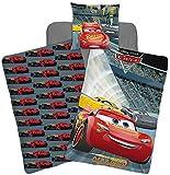 Parure de lit Cars Disney - Housse de couette réversible lit 1 personne