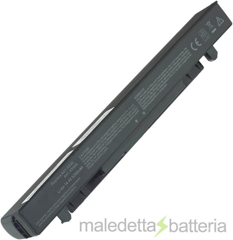 Batería potenziata 5200 mAh 14,4 V para Portátil Asus A450, 450 VB, A450 C, A450CA, A450CC, A450L, A450LA, A450LB, A450LC, A450 V, A450VC, A450VE, A550 A550 C A550CA A550CC,,,,, A550L A550LA, A550LB,