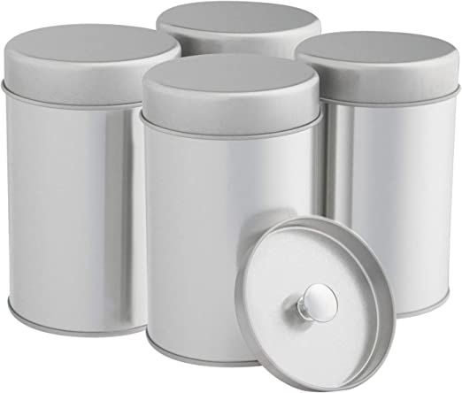 Tea Tins Canister Set with Airtight Double Lids for Loose Tea - Small  Kitchen Canisters for Tea Coffee Sugar Storage, Loose Leaf Tea Tin  Containers by ...