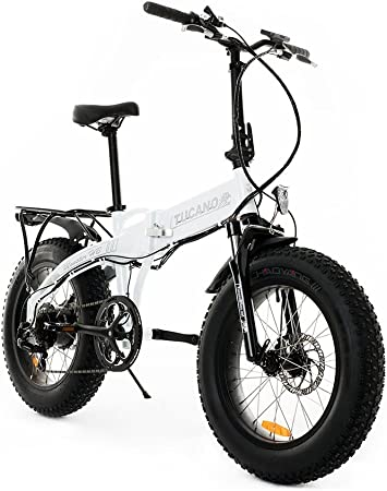 Tucano Bikes Monster HB Bicicleta Eléctrica Plegable, Blanco (Benz ...