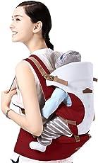 GBlife Mochila Portabebé 5 en 1 de Diseño Ergonómico Ajustable Portadores Marsupios para Recién Nacidos/ Bebés (Claret)
