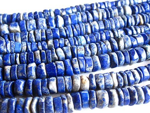 Lapis Lazuli heishe beads - 13 inch strand - 6mm 6mm X 2.5mm