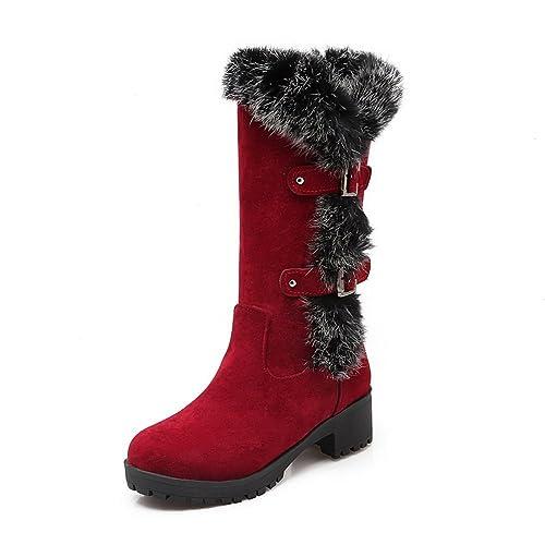 AdeeSu - Botas de nieve mujer , color marrón, talla 39 1/3