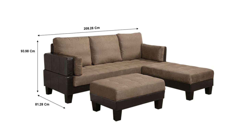 Amazon.com: Ellesmere Sofa Bed with 2 Ottomans Tan: Kitchen ...