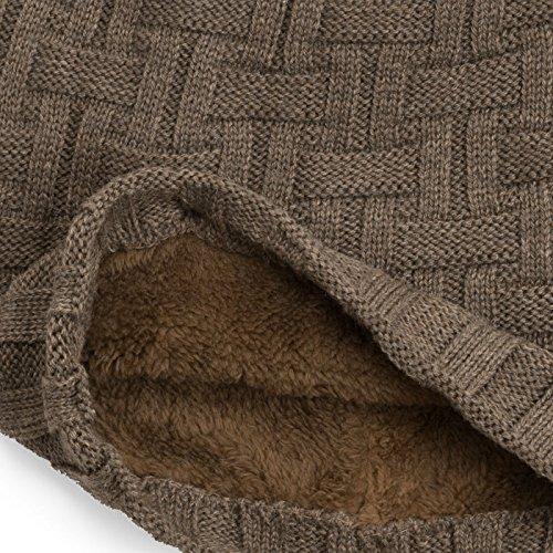 forro de Marrón moderno interior cesta tipo gorro polar beanie» Compagno con suave «slouch punto POx1w1dq