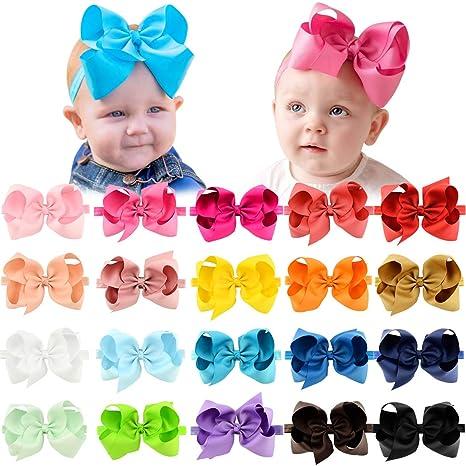 Lot Polka Dot Bow Baby Headband Toddler New Born Soft Elastic Band Variety Hair