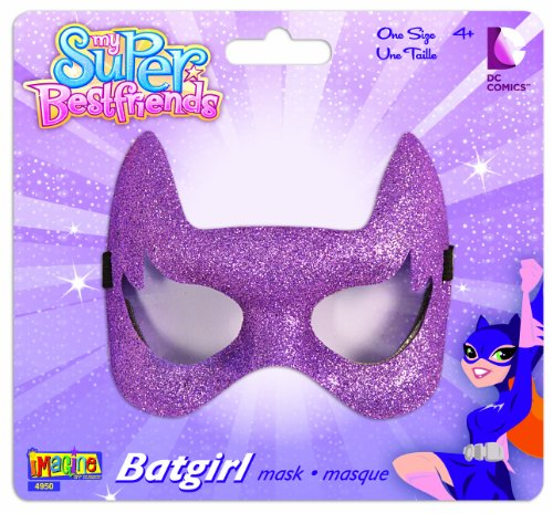 Toddler Bat Girl Costumes (My Super Best Friends Batgirl Glitter Eye Mask)