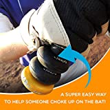 Bat Grip Choke up Rings 2-pack for Youth Baseball, Softball and Tee Ball (Black) For Sale