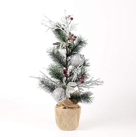 XIADE Simulación Árbol de Navidad en Miniatura Agujas de Pino ...