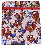 Tater Accelerator Sewing Kit - Precut, Quick & Easy to Sew, Pre-Quilted Cotton Fabric & Batting for TWO Microwave Potato Baking Bags (Rooster)