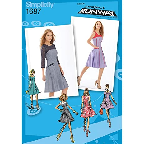 Amazon Simplicity 1687 Misses And Miss Petite Dress Project