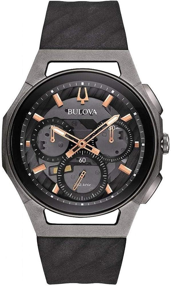 Bulova Reloj Cronógrafo para Hombre de Cuarzo con Correa en Caucho 98A162