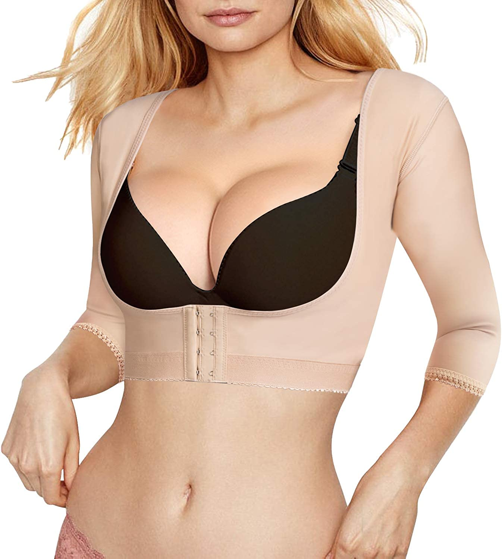 Upper Arm Shaper for Women Post Surgery Compression Sleeves Vest Posture Corrector Shapewear Slimming Tops Beige, M