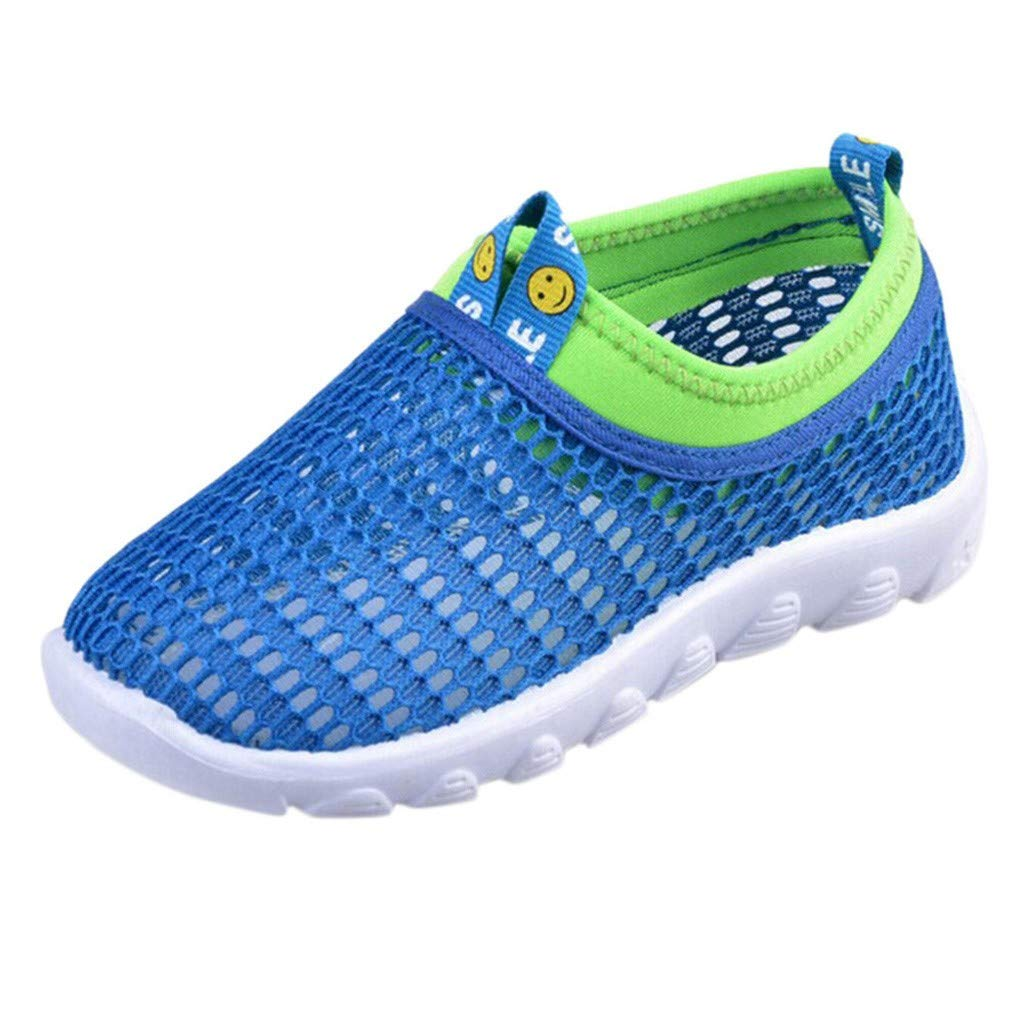 Breathable Shoes Mesh Shoes Flurries Mens and Girls Sports Shoes Running Shoes Infant Kids Baby Boys Girls Mesh Candy Color Sport Run Sneakers Casual Shoes