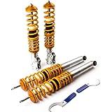 maXpeedingrods Kit Combinés Filetés Amortisseurs pour Golf VW Golf2 Golf3 Jetta2 Vento 1H Seat Toledo 1L