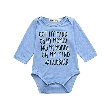 c90d647e6 Amazon.com  CieKen Newborn Baby Letter Print Short Sleeve Romper ...