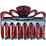 Women Large Crystal Plastic Hair Claw for thick hair, Beauty Basic Jaw Clips(Brown)…