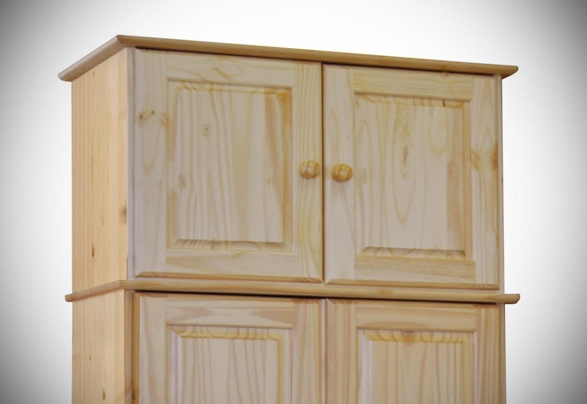 Aufsatz für Kleiderschrank CLASSIC 2 Türen Kiefer massiv lackiert ...
