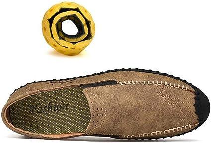 Chaussures de Printemps de Nouvelle Taille de Pois de Grande Taille Chaussures Hommes daffaires Cousues /à la Main MALPYQ Chaussures de Loisirs pour Hommes