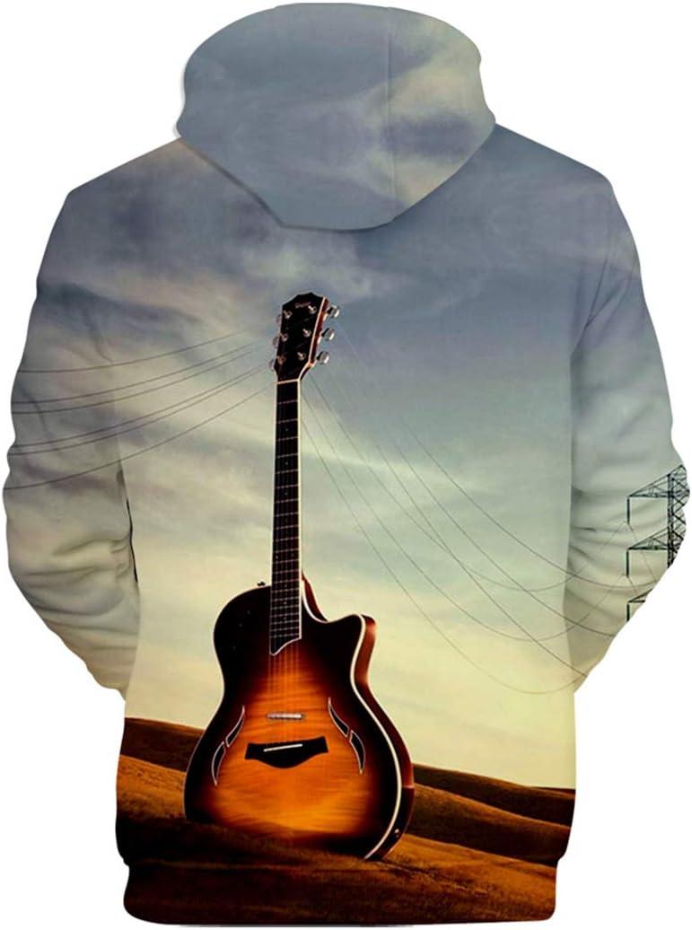 WMHNP Hombres Sudadera con Capucha 3D Impresa Elemento De Guitarra ...