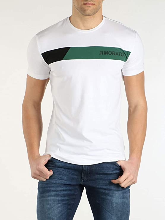 Antony Morato Camiseta Sport The Greenlin Blanco: Amazon.es: Ropa y accesorios