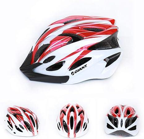 ZKDY Casco De Bicicleta De Montaña Casco Ultraligero@Rojo Y Blanco ...
