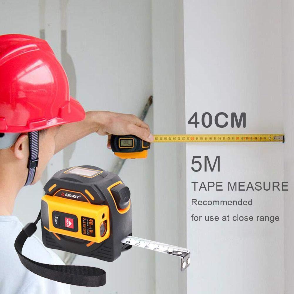 60M 2 in 1 elektronisches Ma/ßband-Messger/ät LCD-Digitalanzeige-Handinfrarot f/ür digitales Distanzma/ß Enjoyyouselves 40M