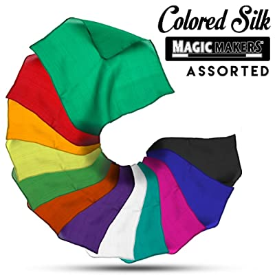 Magic Makers 9 Inch Assorted Color Silks - Professional Grade (12 Pack): Toys & Games