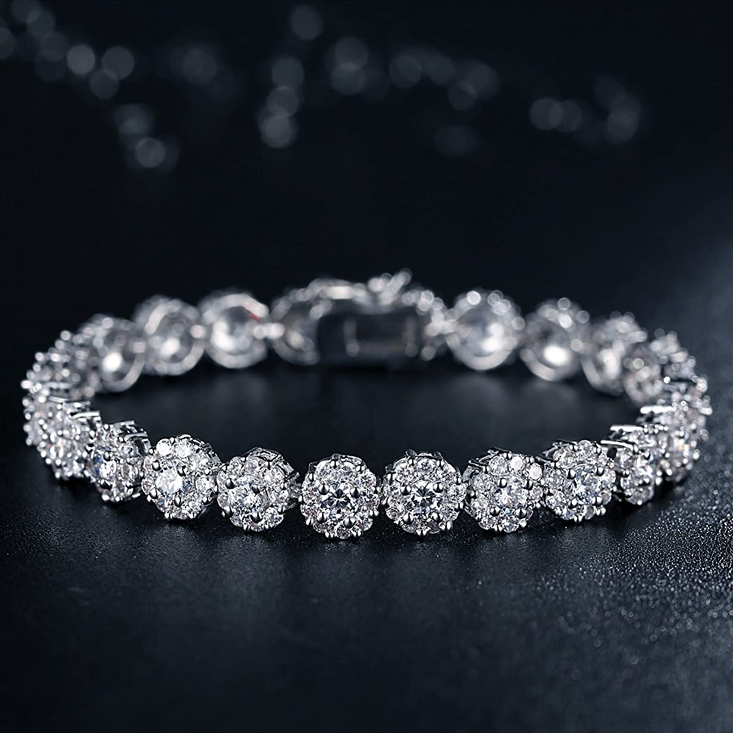 genuine ct white with diamond for in tennis natural gold diamonds marquise product sale on black rhodium bracelet