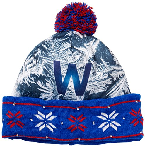 - Forever Collectibles MLB Chicago Cubs World Series W Light Up Knit Hat