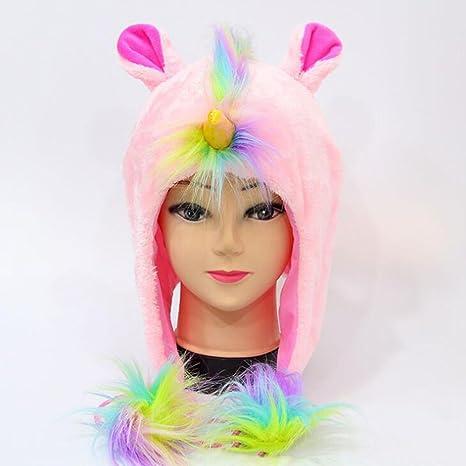 YXYP Impresion 1 Unid Sombrero Sombrero de Unicornio Sombreros de los niños  Sombrero de Punto Elegante Moda elección Velvet Más Grueso Diseño Sombrero  de ... 9a309046d637a