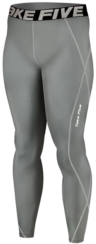 660fcaf4ac Amazon.com: JustOneStyle Men's Take Five Skin Compression Leggings: Clothing