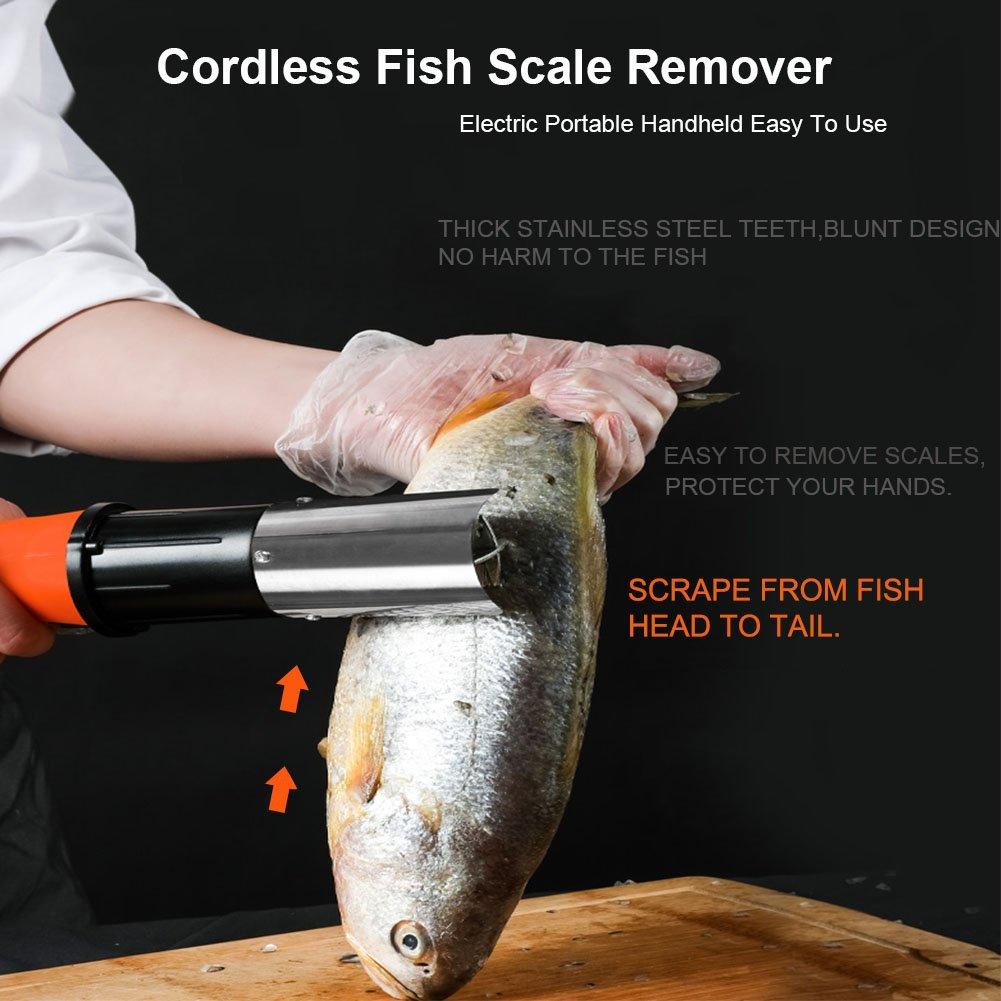 Rascador de pescado el/éctrico Speder con motor potente y bater/ía recargable