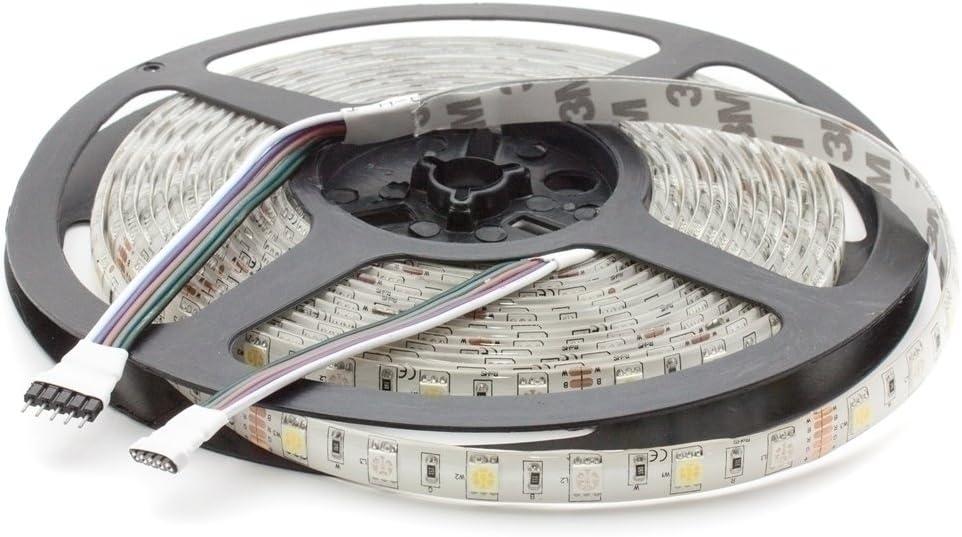LED RGBW blanco cálido (3000 K), tira de 24 V, 500 cm, 60 LEDs/m (300 unidades), IP65