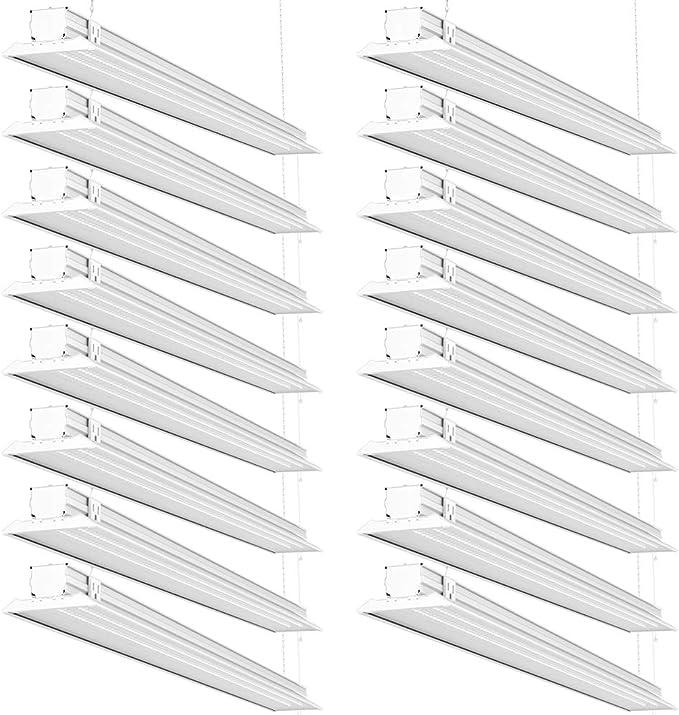 4 FT Linkable Single Integrated LED 40W//300W Flat LED Shop Light 5000K 4500LM