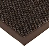 Notrax Non-Absorbent Fiber 231 Prelude Entrance Mat, for Outdoor and Heavy Traffic Areas, 4' Width x 8' Length x 1/4'' Thickness, Brown